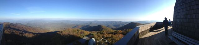 Panoramic view from the top of Brasstown Bald