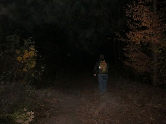 Night hiking at Olde Rope Mill Park