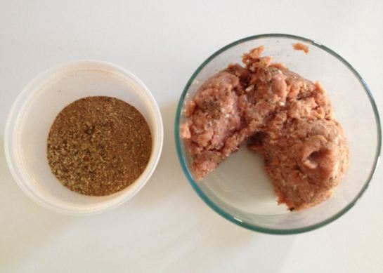 Sausage Seasoning and Ground Turkey