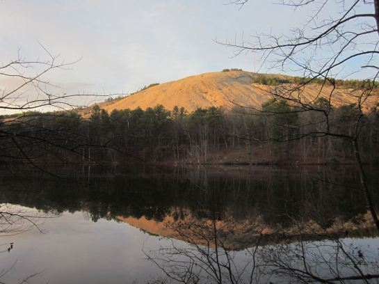 Stone Mountain Reflected in Venable Lake