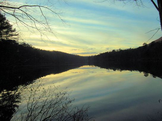 Sunset at Venable Lake